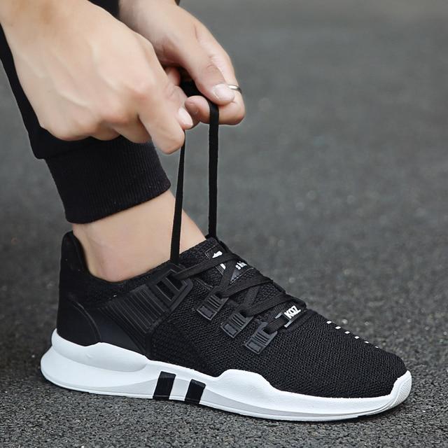 ee439021b7505 Men sneaker 2017 summer new arrival flyknit mesh breathable lightweight  youthful men walking shoes