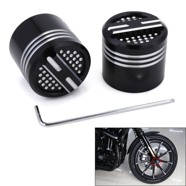 2pcs Motorcycle Lengthen Wheel Front Hub Caps Covers For Harley Dyna Super Glide Softail Blackline Sportster 883 1200 D45
