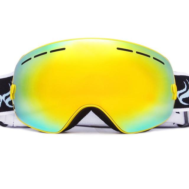 Lunettes de ski de plein air de sports d'extérieur lunettes de soleil d'objectif double-couche d'escalade lunettes de soleil pour l'homme et les femmes , red