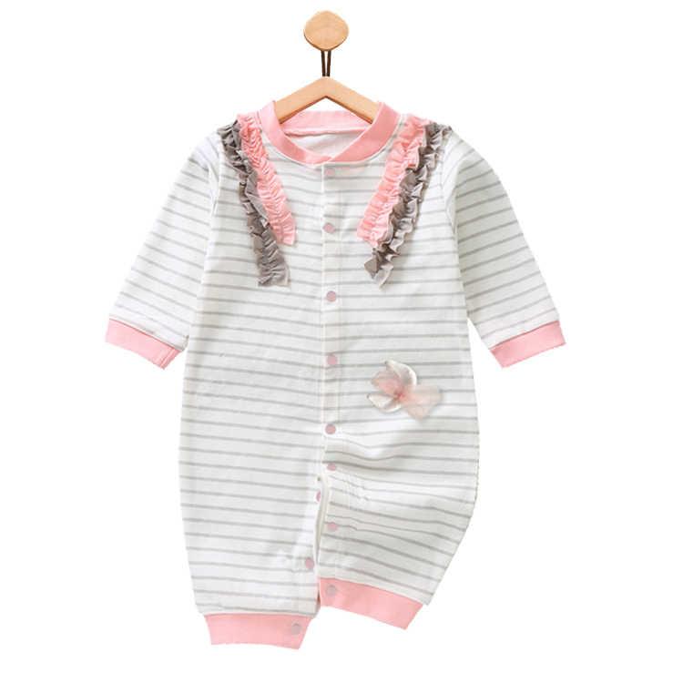 2018 одежда для маленьких девочек хлопковые детские комбинезоны для младенцев, милый розовый комбинезон с длинными рукавами для маленьких девочек, одежда для новорожденных