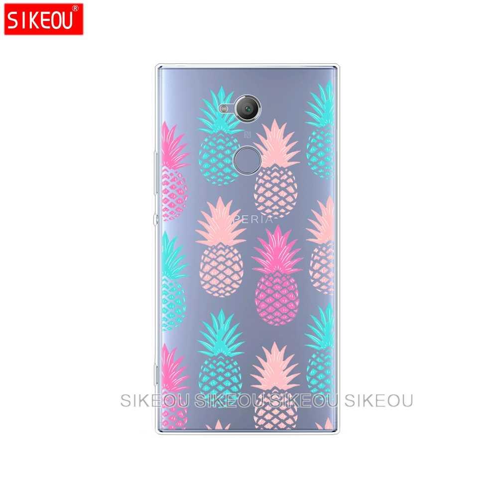 Pokrowiec na telefon silikonowy do sony xperia XA1 XA2 ULTRA PLUS L1 L2 XZ1 XZ2 kompaktowy XZ PREMIUM Pizza arbuz torby ananasowe