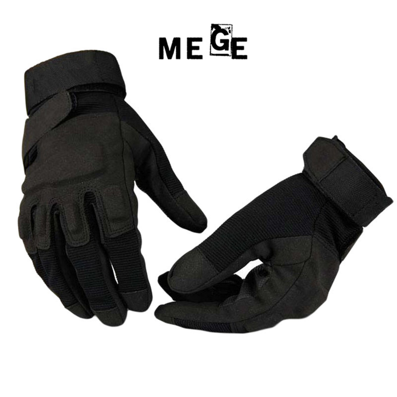 MEGE Army Combat Training Tactical Gloves Men Military Police Soldier Paintball Guanti da esterno Guanti da caccia sportivi con dita complete
