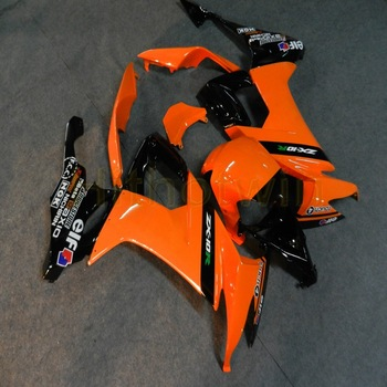 custom motorcycle fairings for ZX10R 2008 2009 2010 ZX-10R 08-10 body kit+Free screws+orange M2