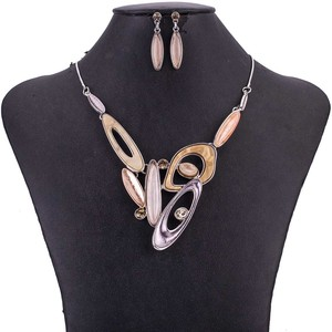 Image 3 - MS1505070 Fashion Jewelry Sets High Quality Lead&Nickle Free Multicolor Pendant Choker Necklace Earrings Set Wedding Jewelry