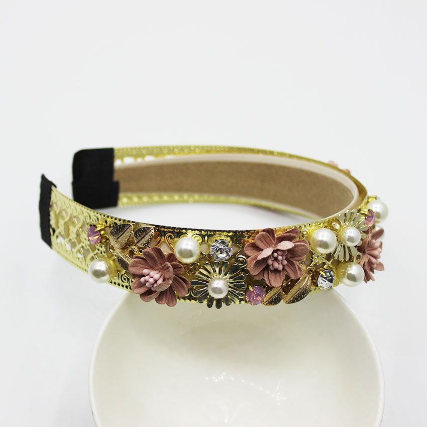 New Vintage Velvet Baroque Birdal Headbands Crystal Flower Crown Tiara Hair Ornament Wedding Hair Accessories Christmas Gift 870