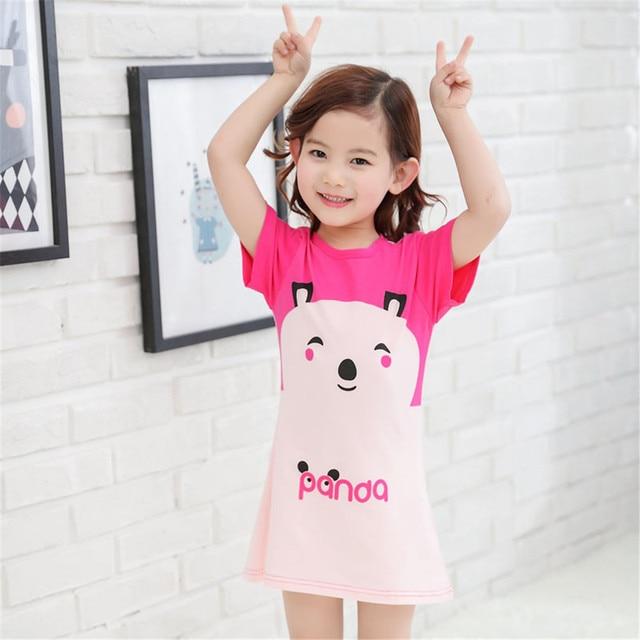 Panda Children Girls Nightgown Sleep Dress for Girls Baby Pajamas Kids  Sleepwear Sling Nightdresses Girls Pyjama Home Clothing 04b0a1b2731d