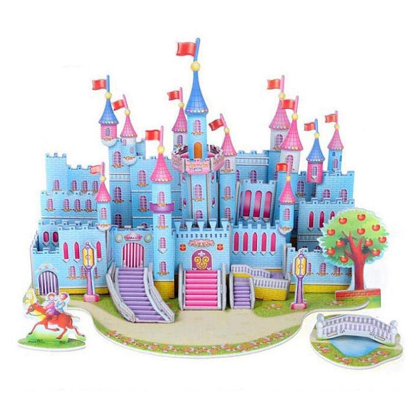 Бумага паззлами раннего обучения Строительная сборка детей украшения дома английские детские игры раннее образование игрушки - Цвет: YJL80925771B