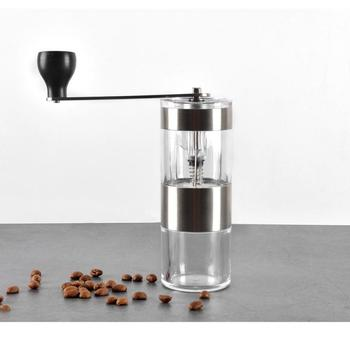 Manual Coffee Grinder Washable Stainless Ceramic Burr Portable Coffee Hand Crank Mill Kitchen Mini Manual Hand Coffee Grinder