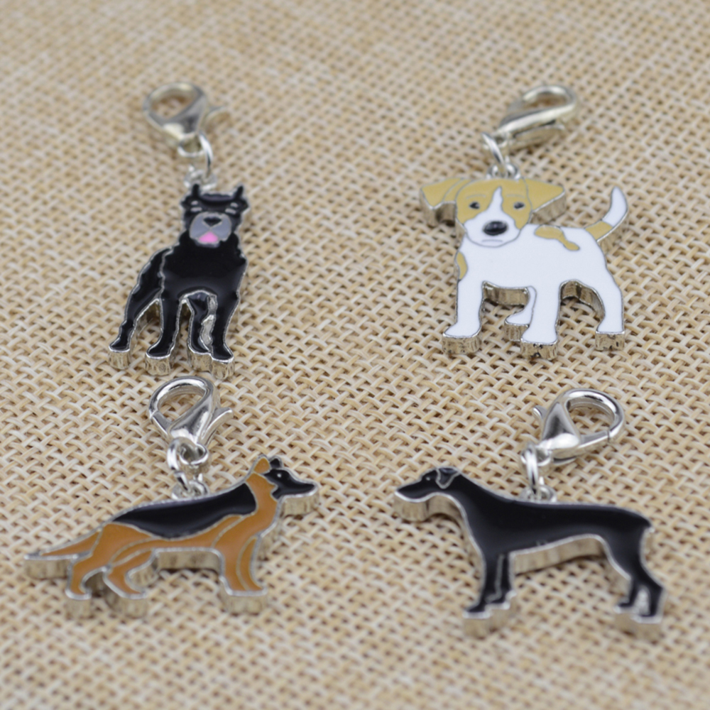 30 pcs/lot Puppy Neck Pendant Key Rings Pet Dog Tag Enamel Collar Keychain Necklace Disk pet jewelry dog tag