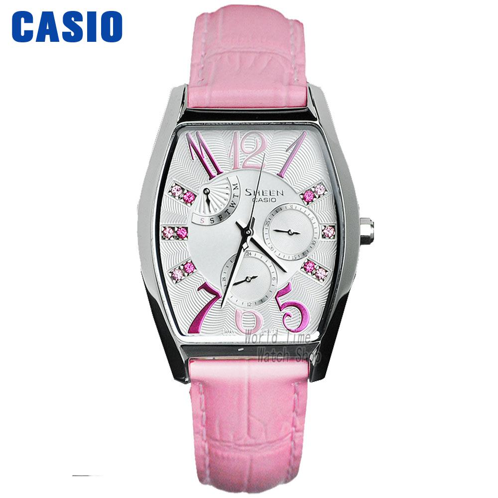 Casio watch large dial fashion diamond watch SHE-3026L-7A2 casio watch fashion trend ms quartz watch she 4048pgl 6a