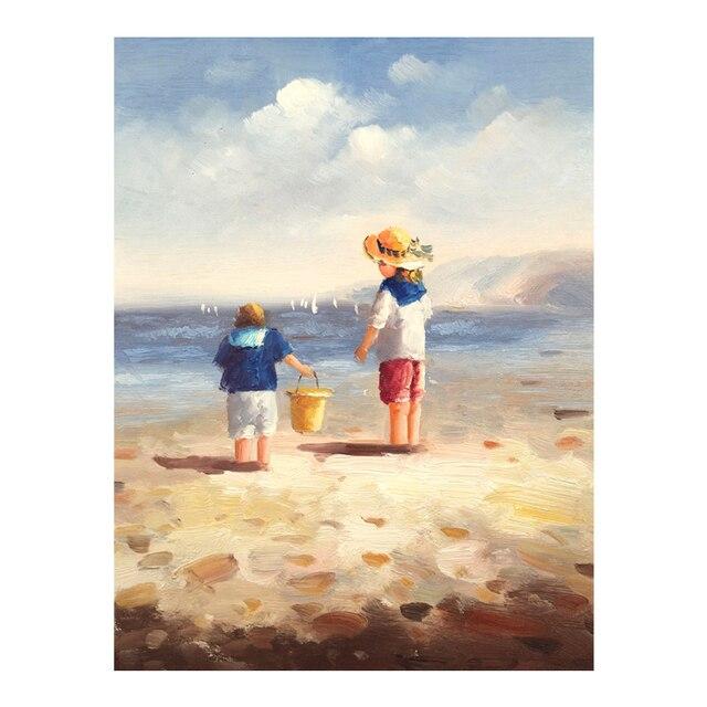 Onwijs Abstract schilderij olieverf handgeschilderde schilderen stranden LC-15