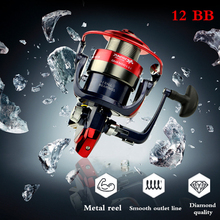 Metal Lure Spool Fishing12BB 5.5:1 Spinnning Reel Feeder Carp Fishing Wheel olta makaralar Freshwater&Saltewater Fishing Reel