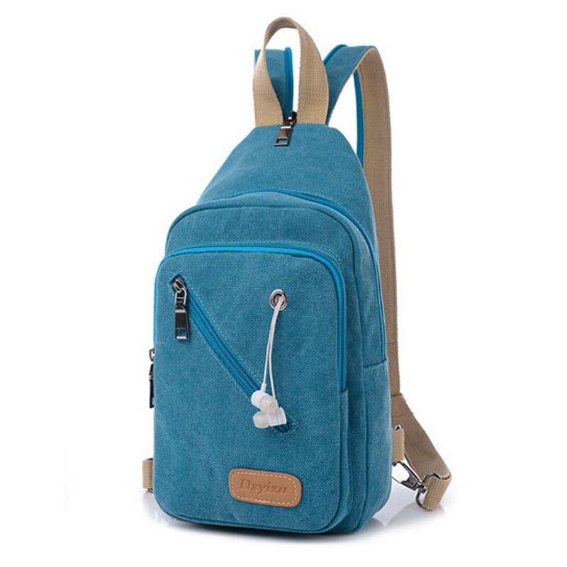 2016 Fashion Designer Ladies Mini Backpack Multifunction Canvas Chest Bag Women Travel Rucksack Casual School Bag For Teenager