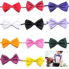 Детский модный галстук-бабочка для смокинга, для девочек, красный и черный, для жениха, жениха, для свадьбы, для вечеринки, цветные одноцветные галстуки-бабочки