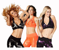 Woman Dance Tops Fitness Sports Bra Great Getaway Metallic V Bra Racerback Vest Tank Top Balck