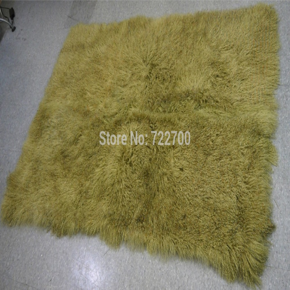 Real Mongolian Lamb Fur Rug Bedroom Fur Blanket Floor Sofa