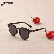 jumlai fashion brand kids sunglasses black retro children's sunglasses