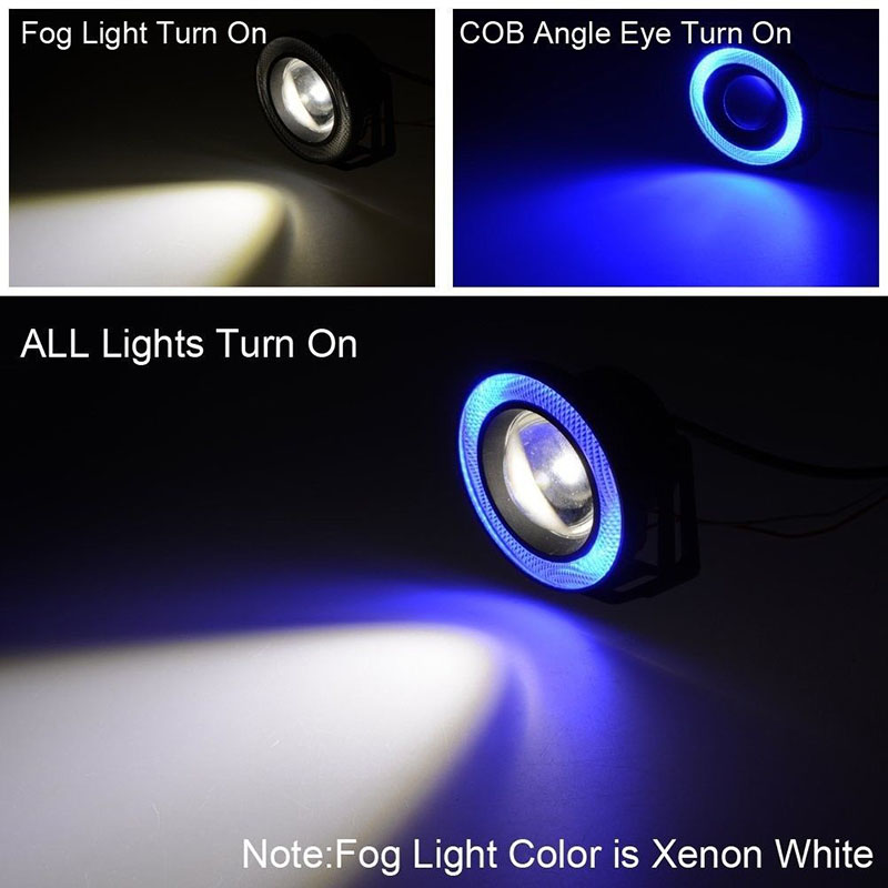 2x 2.5 inch LED Fog angel eyes COB Halo ring DRL Projector Lens Driving car styling replacement accessory auto bulbs for Mazda car styling 80mm for 2 5inch projector lens led light guide angel eyes fiber optic angel eyes drl halo ring super bright