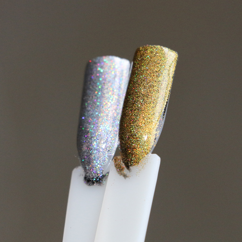 Aliexpress 1g Box Rainbow Mirror Nail Glitter Powder Holographic Nails Dust Laser Holo Art Decorations Chrome Pigment For Gel Polish From