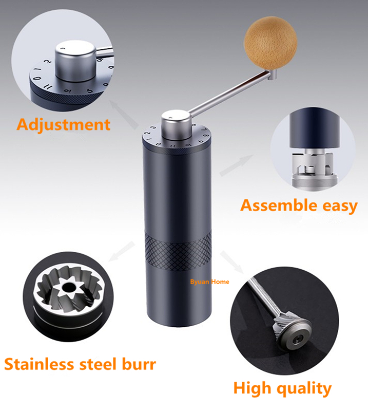 1pc MYM55 stainless steel coffee grinder portable coffee mill mini coffee grinding core super manual coffee