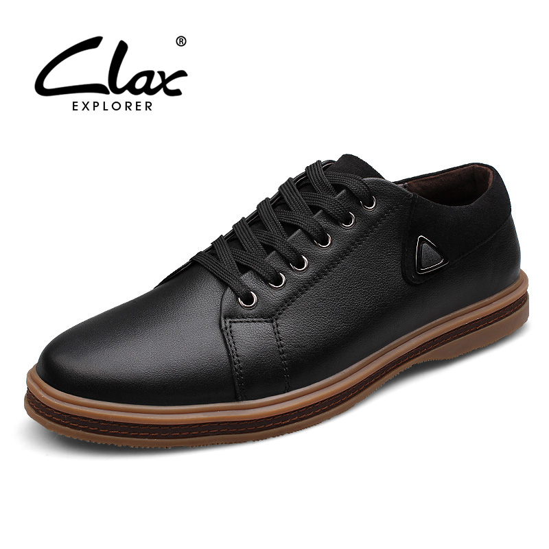Clax Men Oxfords Genuine Leather Spring Autumn Soft Leather Shoes Male Elegant British Style Dress Shoe Comfortable epgate selfie wireless bluetooth remote controller for ios android device red