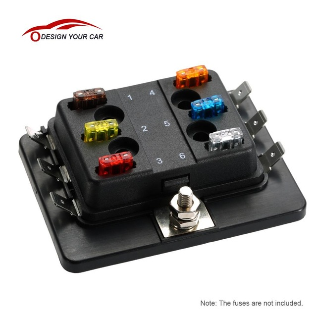 6 way mini blade fuse box holder apm atm 5a 10a 25a for car boat mini fuse box terminal 6 way mini blade fuse box holder apm atm 5a 10a 25a for car boat marine