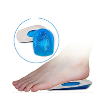 Silicone Gel Insoles Heel Cushion Soles Relieve Foot Pain Protectors Support Shoe Pad Feet Care Men Woman Orthopedic Insoles(China)