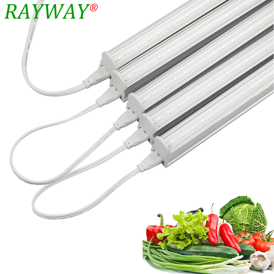 RAYWAY LED T5 Tube SMD2835 Phytolamp High Brightness LED Grow Lights For Plants 5W 18Red 6Blue Phyto Seedling Flower Lamps