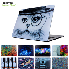 SZEGYCHX Fashion Laptop Case For Macbook Air 13 Case Cover For Macbook Pro Retina 12 13.3 15 inch For Mac book air 11 +Gift
