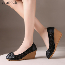 2018 Fashion New Womens Platform Pumps Casual Summer Wedges Shoes Lady aa0744