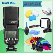 Godox V860II Kamera Speedlite 2,4G 1/8000 s mit 2000 mAh Li-on Batterie Drahtlose blitzlicht für Nikon DSLR D800 D700 D7100 D5200