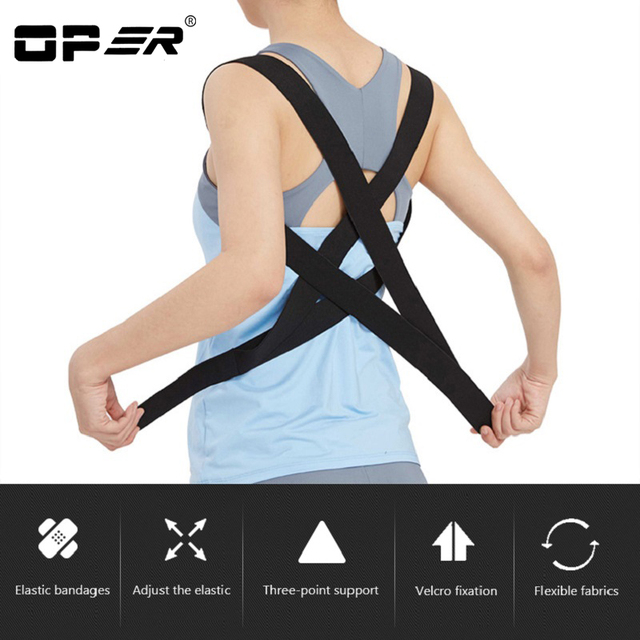 OPER Posture corrector Belt Children Back Posture Humpback Adjustable Brace Shoulder Inside Wear Orthopedic Elastic Band