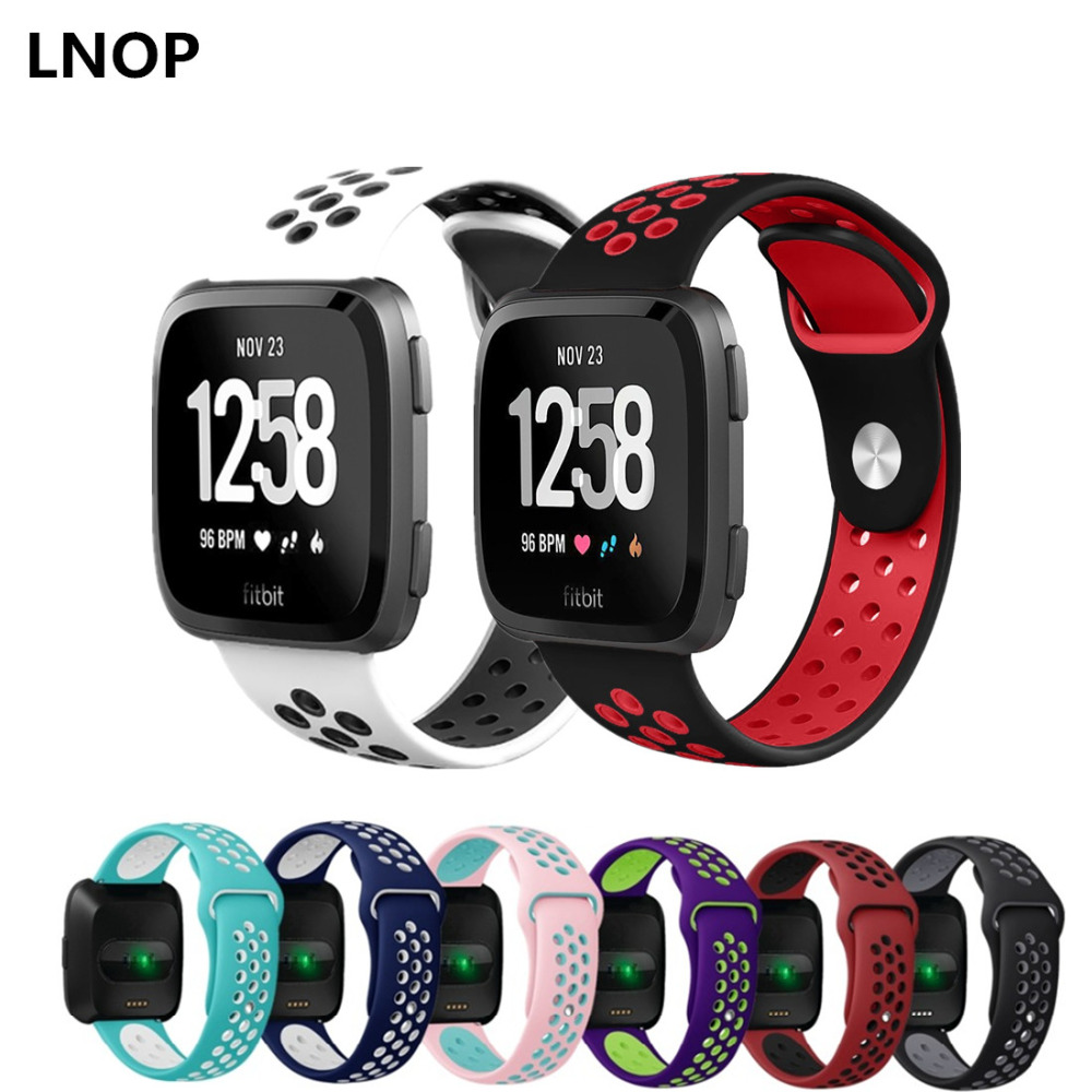 CRESTED Sport band For fitbit versa versa correa Silicone Bracelet wrist wristband watchband belt fitbit reloj watch Accessories fitbit watch