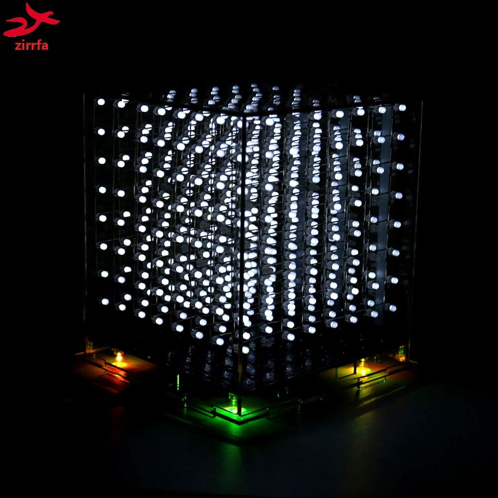 Diy Электронный белый 3D 8S 8x8x8 Мини светодиодный электронный свет Cubeeds Diy Набор для рождественского подарка