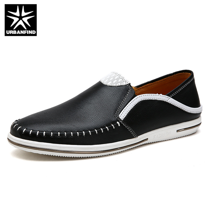 URBANFIND Designer Men Slip On Leather Loafers Size 38-44 Brand Fashion Man Casual Shoes Driving Flats