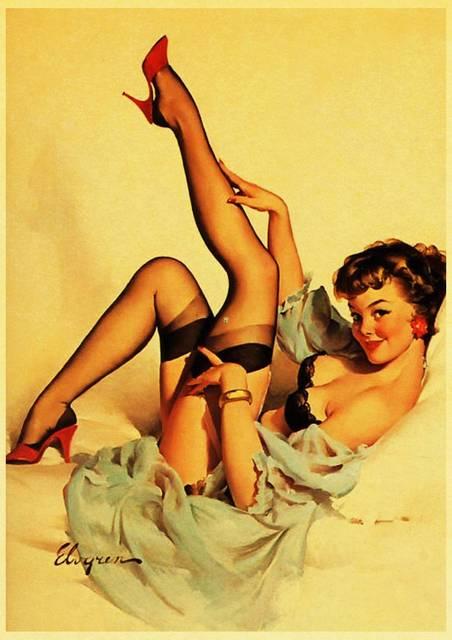 Retro Sexy Girls Wall Poster