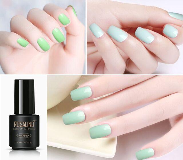 Gel Nail Polish Green Color Series