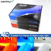 KAMMURI Car Styling 4D LED Badge Bulb Emblem Logo Light for Nissan Tiida X Trall Geniss Livina Cedric Rear Badge Logo Light