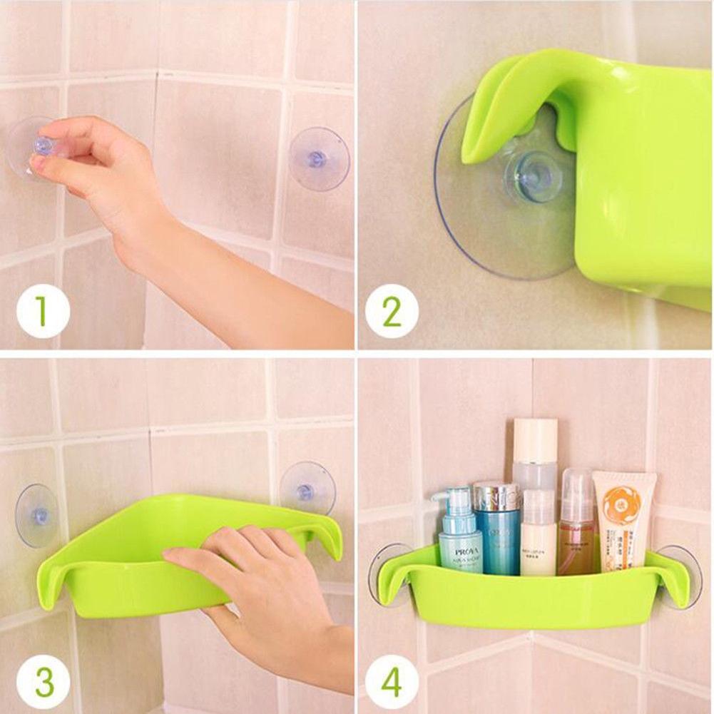 LanLan estante de baño adhesivo Bad Rek Rack de almacenamiento de ducha de  esquina estante cocina decoración del hogar baño accesoriosUSD 2.81 piece 17045db81216