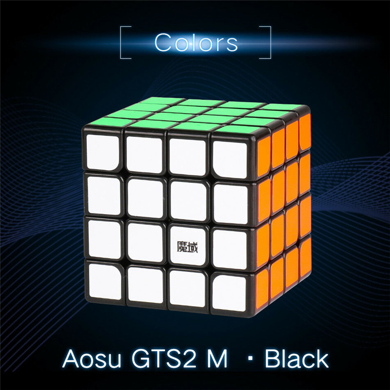 MoYu AoSu GTS 2M 4x4x4 Magnetic Magic Cube Professional Twist Puzzle Educational Intelligence Toys Black