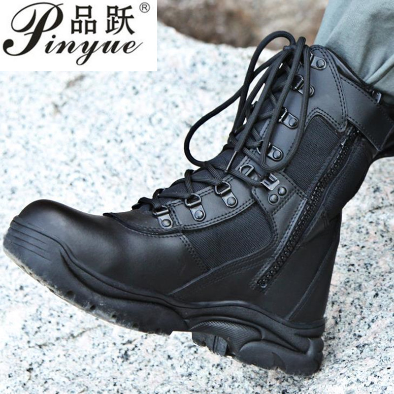 2019 The New Model Black Combat Boots Military Boots Men Outdoor Shoes Infantry Tactical Boots  Army Boots