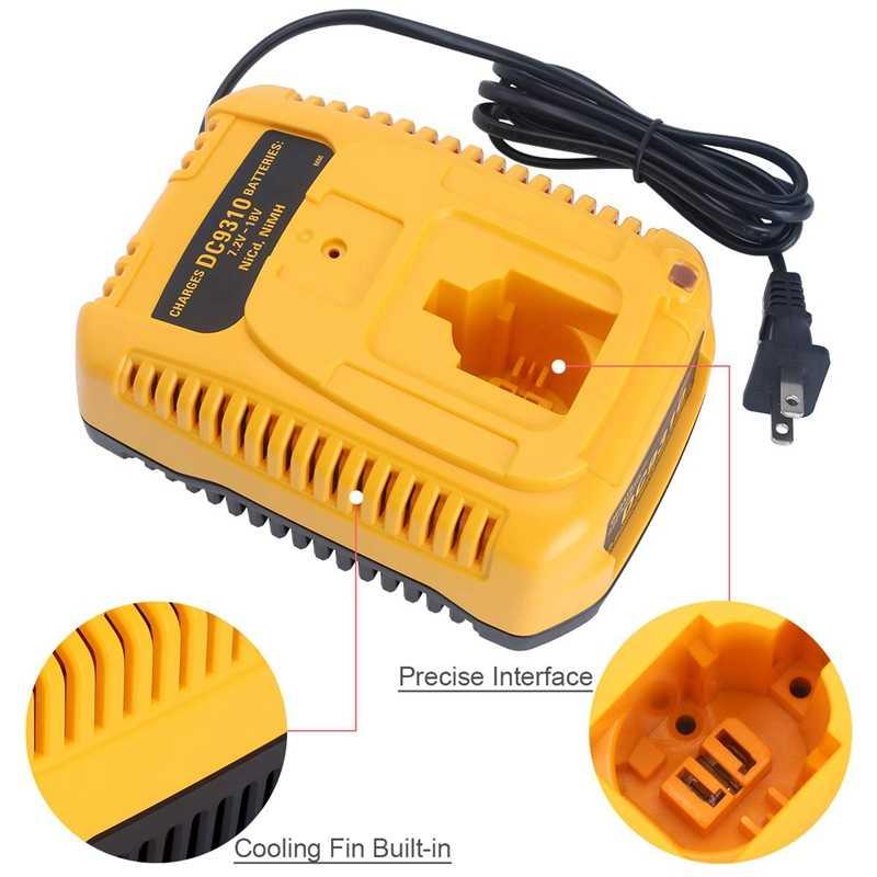 Dc9310 быстрое зарядное устройство для Dewalt 7,2 V-18 V Xrp Ni-Cd Ni-MH батарея Dc9096 Dc9098 Dc9099 Dc9091 Dc9071 De9057 Dw9096 Dw9094 Dw9072