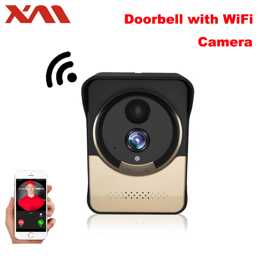 XM Wireless WiFi Video Doorbell Camera IP Door bell IR Night Vision Monitor Camera Video Intercom with 4000 mAh Battery Powered 2 7inch indoor monitor wifi wireless video door phone intercom doorbell ip camera pir ir night vision home alarm system remote