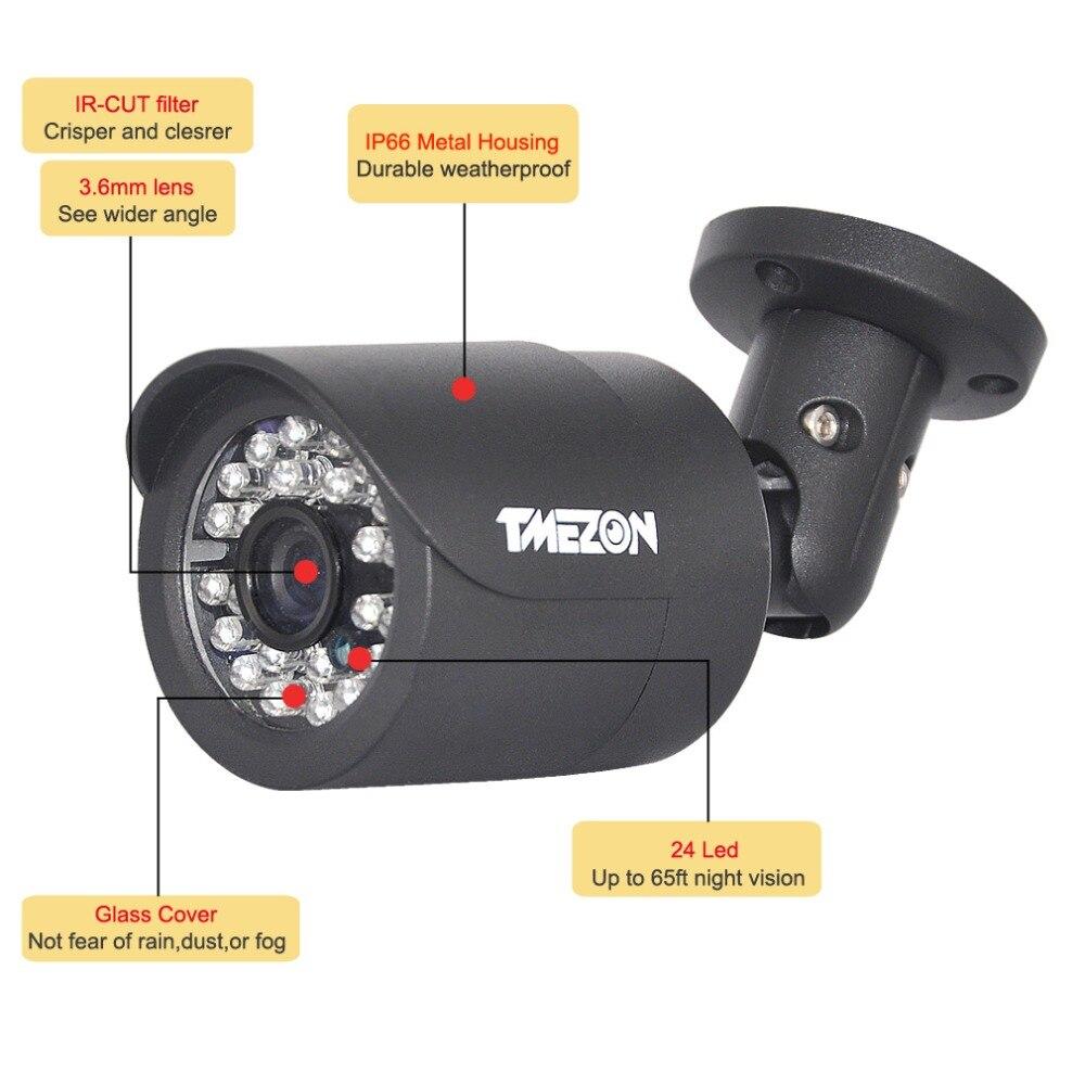 цена на TMEZON CVI 1/3sensor 2.0MP Mega pixels Bullet Camera 24 Leds CCTV camera