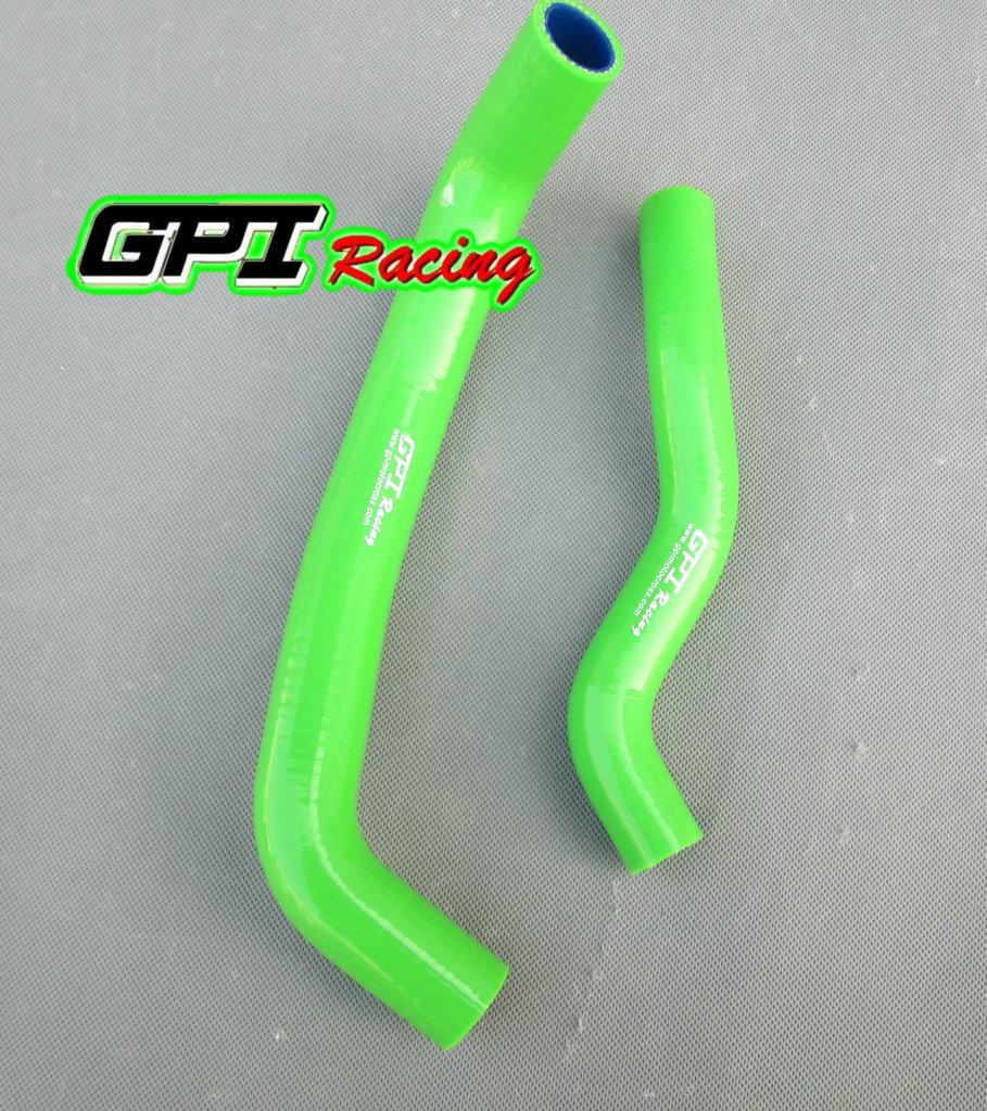 Силиконовый шланг радиатора GPI для Kawasaki KFX 400 KFX400 2003 -2008 2004 2005 2006 2007 03 04 05 06 07 08, зеленый
