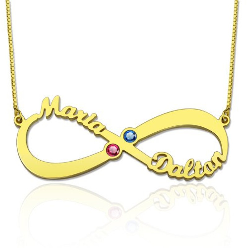 Personalized Infinity Fashion Jewelry Custom Couple Names Necklace ...
