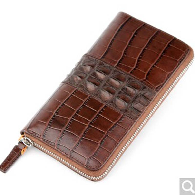 luolaini Crocodile Leather man wallet man purse large capacity hand bag zipper long wallet multi-card leather hand grab bag women wallet long zipper wallet high capacity crocodile grain female card package fashion hand bag change purse