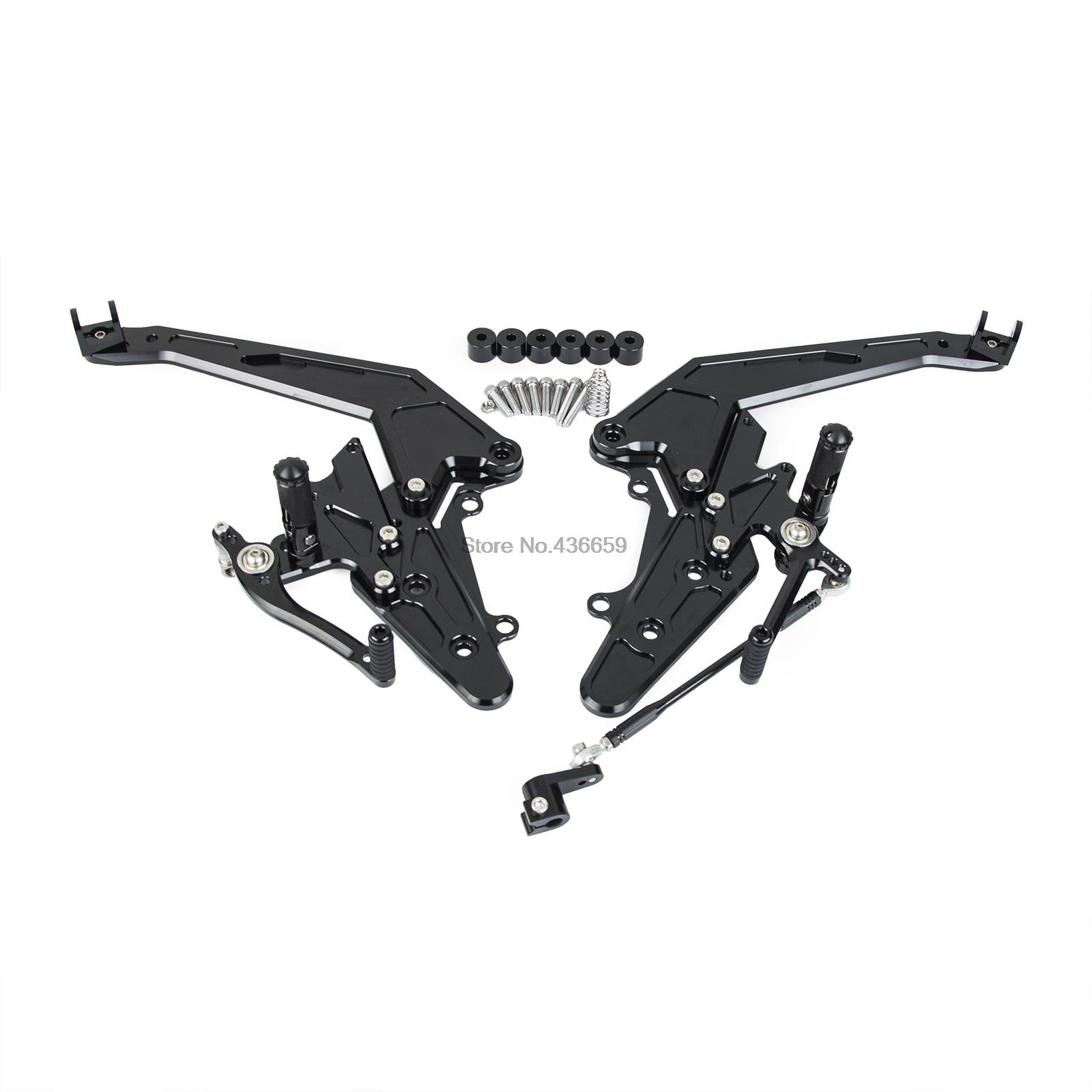 NICECNC CNC Rear Sets Foot Peg Footrests Footpeg for Kawasaki Ninja 650 EX650 ER6F ER6N 2012 - 2016 2013 2014 2015 ER 6F 6N цена 2017