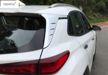 Lapetus Accessories For Hyundai Kona 2018 2019 Chrome Outside Rear Window Spoiler Tail Windshield Wing Molding Cover Kit Trim(China)