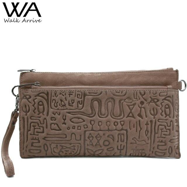 Walk arrive натуральная кожа женщин сцепления сумки оракул тиснением кожа сумка цепи мешок